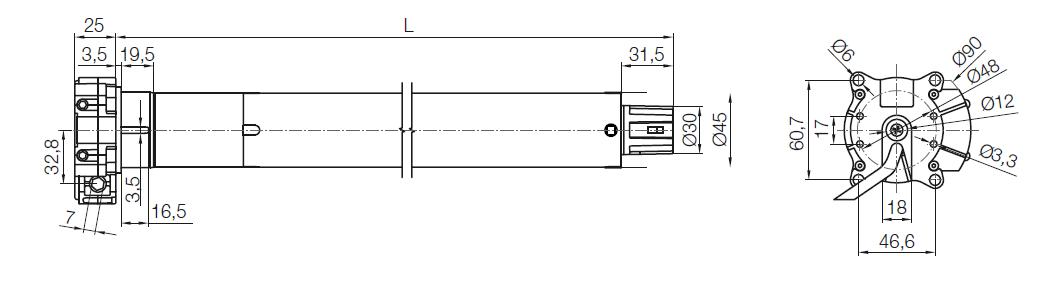 De afmetingen van de Nice To-max A in beeld gebracht